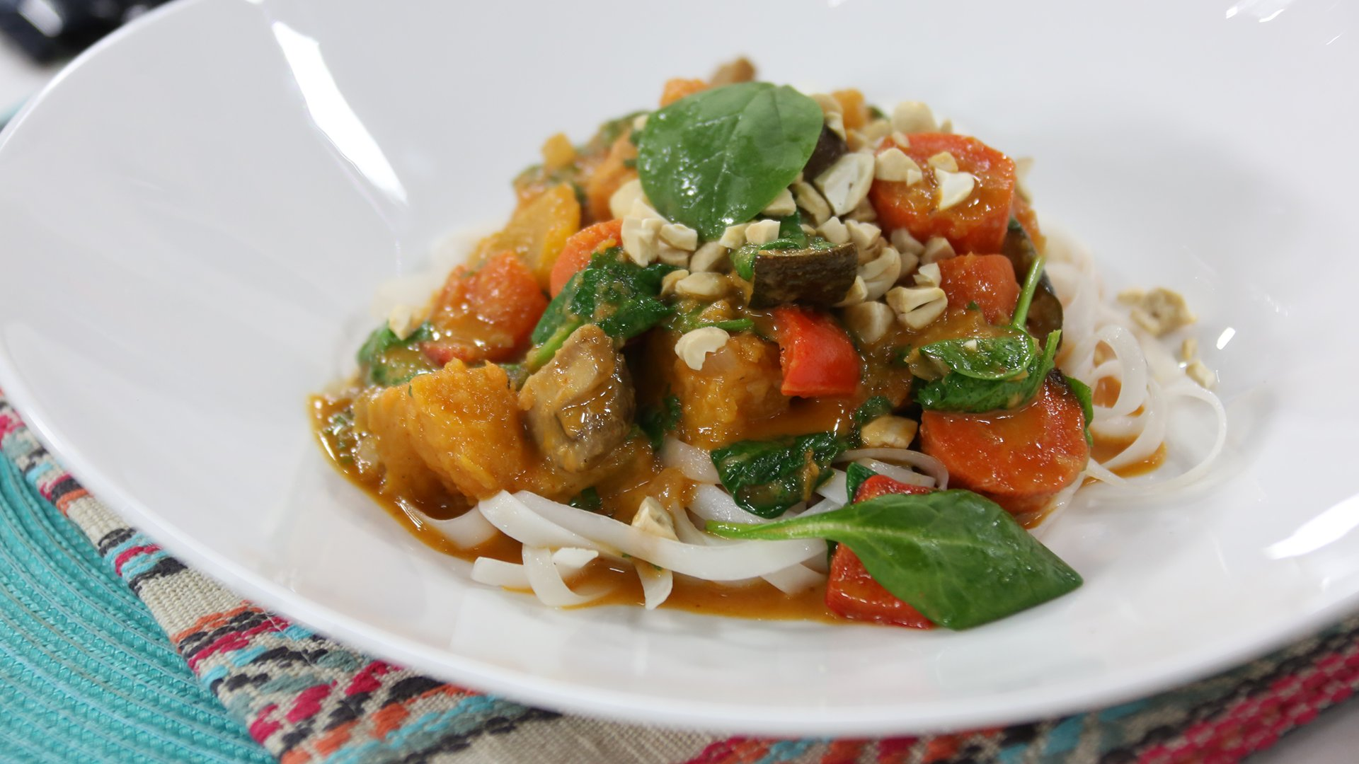 Roasted Vegetable Thai Coconut Curry