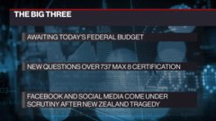 The Big Three: Federal budget; questions over 737 Max 8 certification; social media under scrutiny