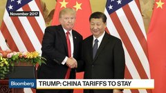 Trump Says China Tariffs to Stay