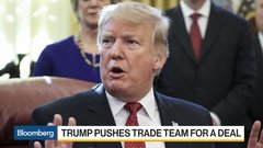 Trump Pushes China Trade Deal to Boost Markets
