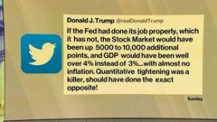 Trump Slams Federal Reserve for Holding Back Stocks, GDP