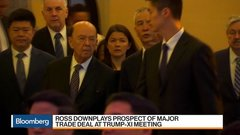 Ross Tempers Prospect of Trade Deal at Trump-Xi Meeting