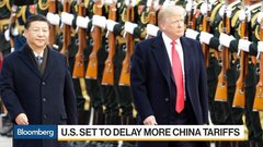 U.S. Set to Delay More China Tariffs