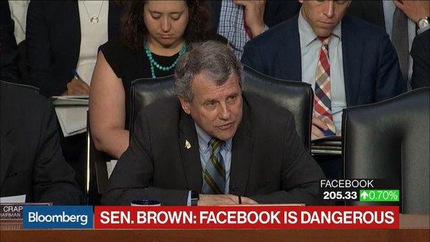 Sen. Brown: 'Crazy' to Let 'Dangerous' Facebook Experiment in Banking