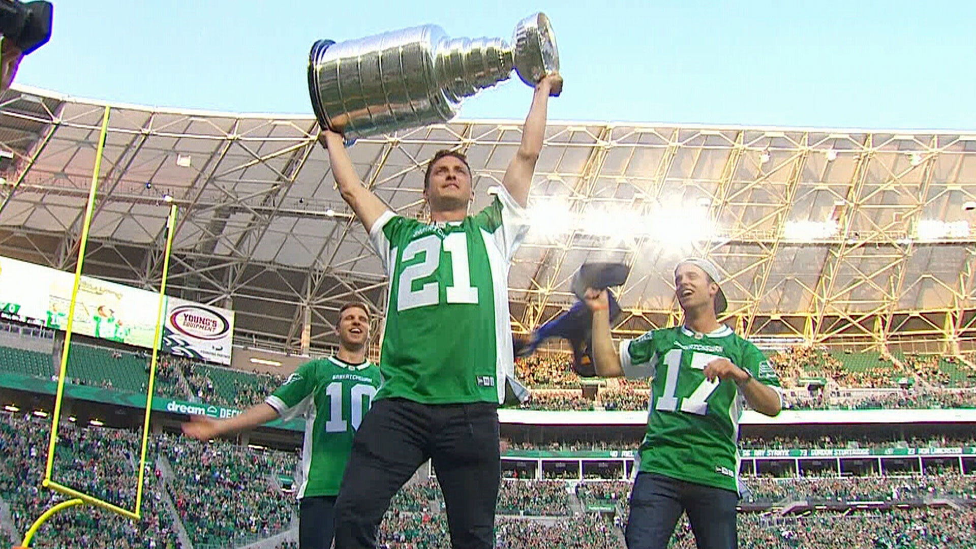 Must See: Blues show off Stanley Cup at Roughriders game