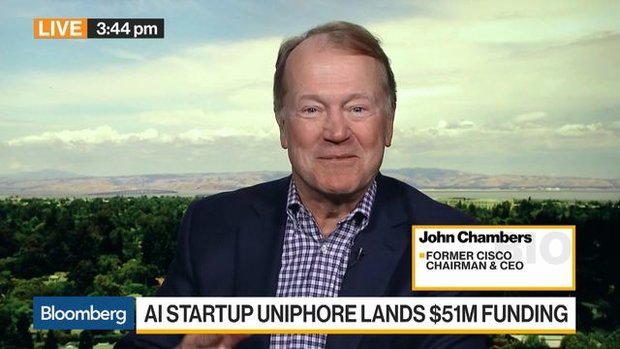John Chambers on India Startup Uniphore Software Systems
