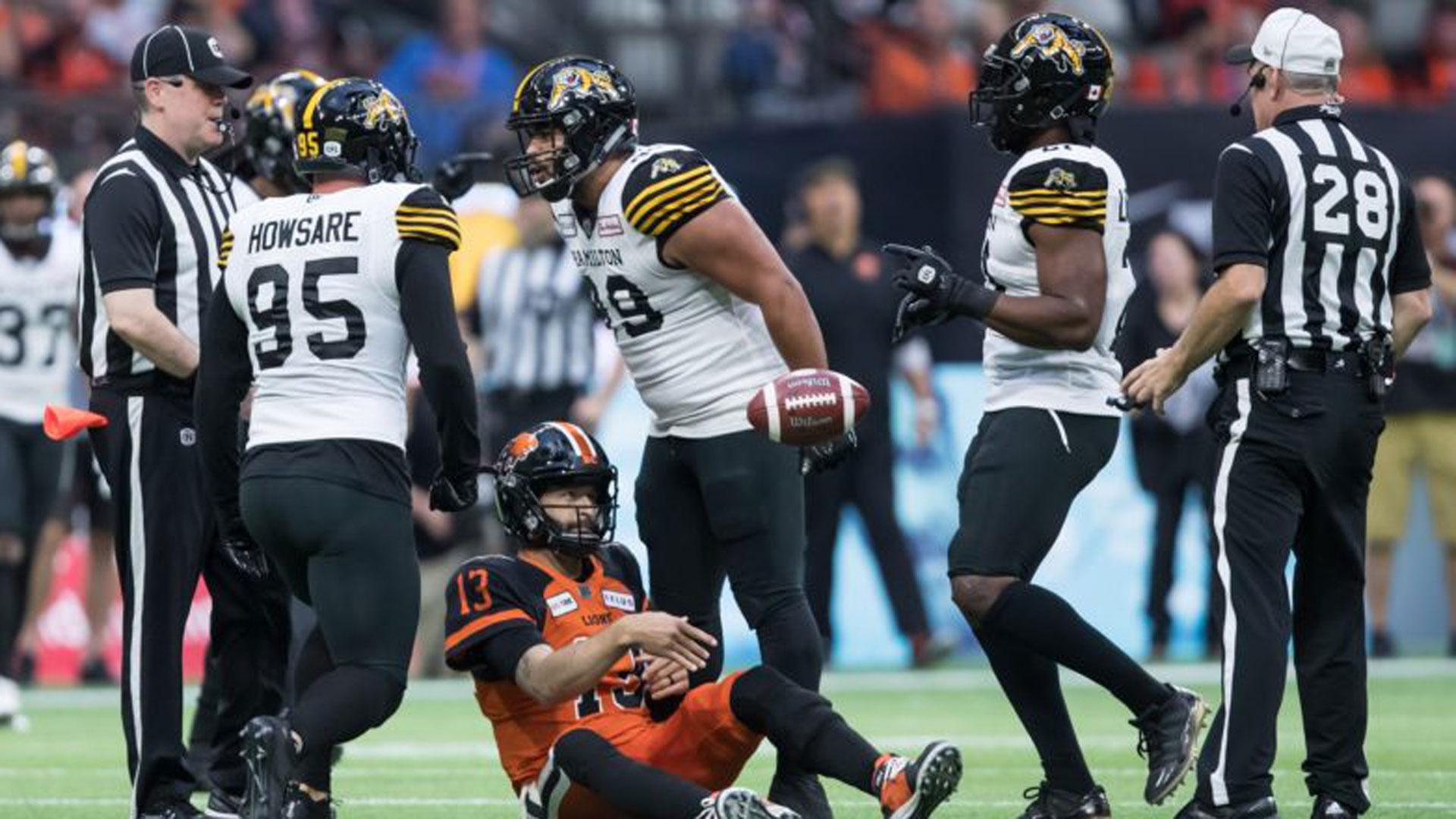 CFL: Tiger-Cats 13, Lions 10