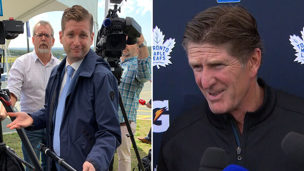 Mike Babcock was absolutely blown away by the jacket Mark Masters was rocking