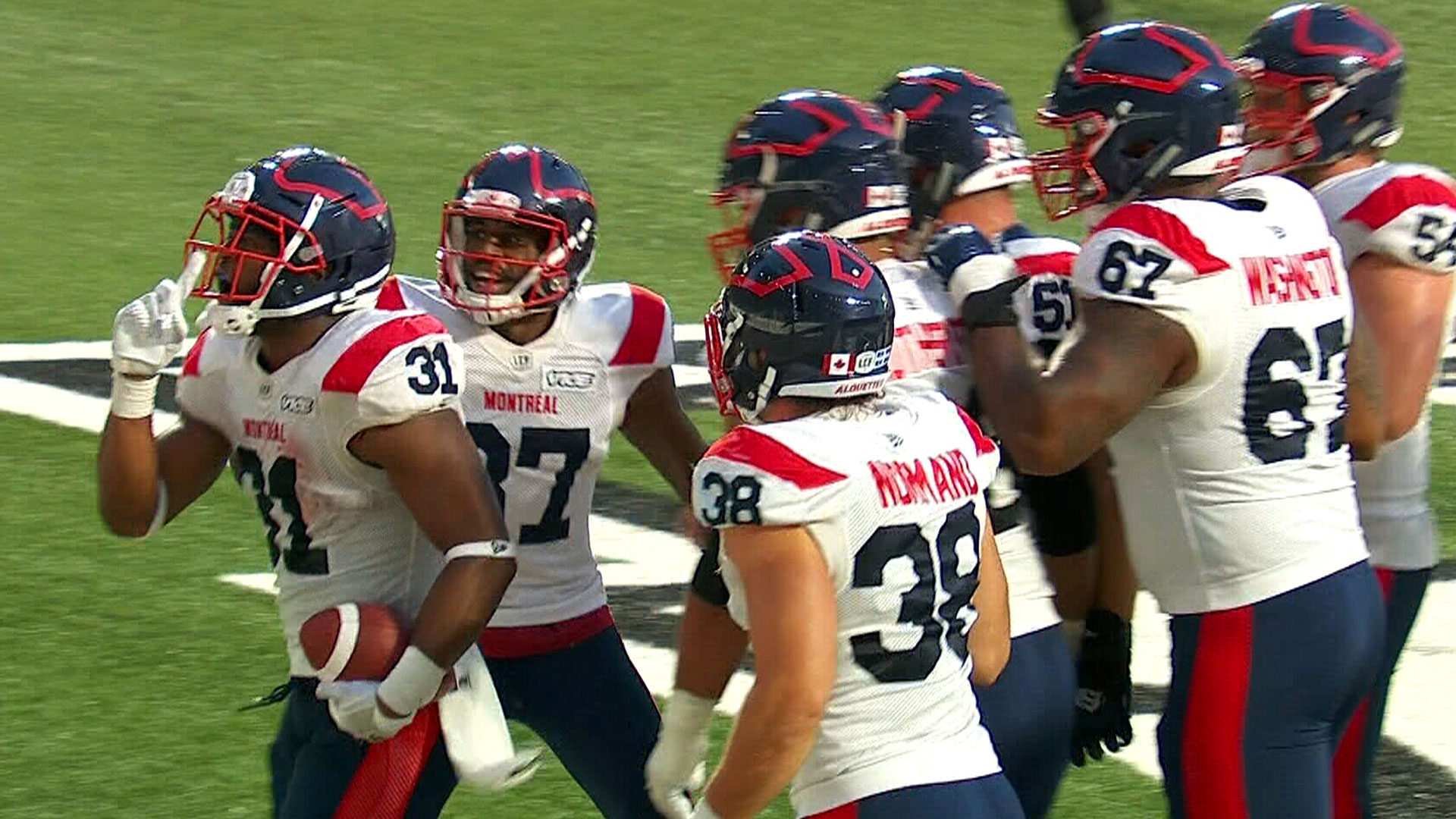 Stanback runs it in to put Montreal back in front
