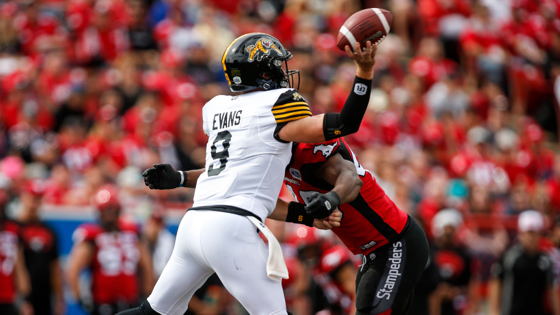 Offensive meltdown, late field goal block allows Stamps to sneak by Ticats