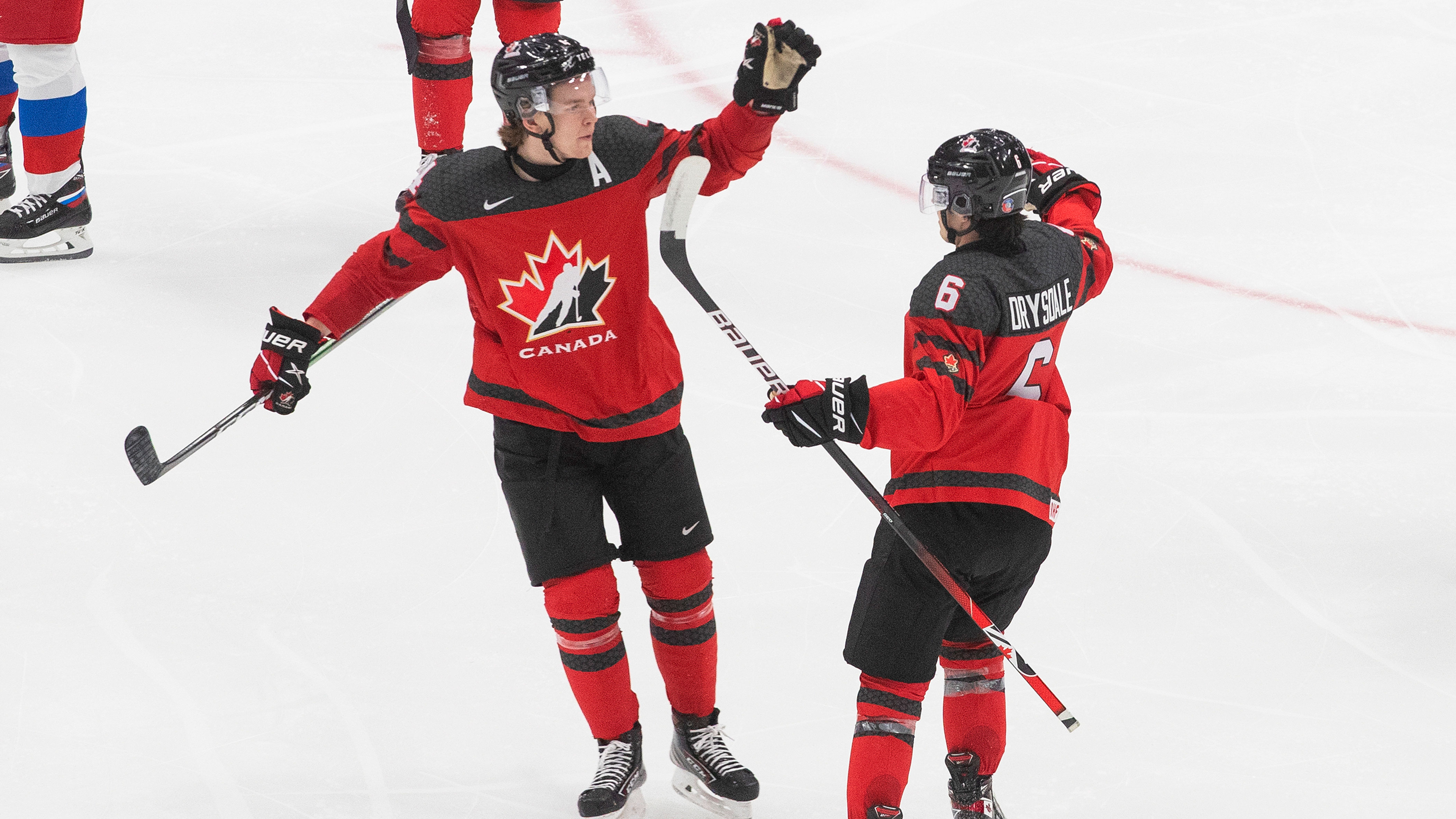 Drysdale Scores Lone Goal Dach Hurt As Canada Defeats Russia At World Juniors Pre Competition Game Tsn Ca