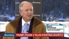 Blackstone's Schwarzman Says Trump Defended Economic Record at Davos