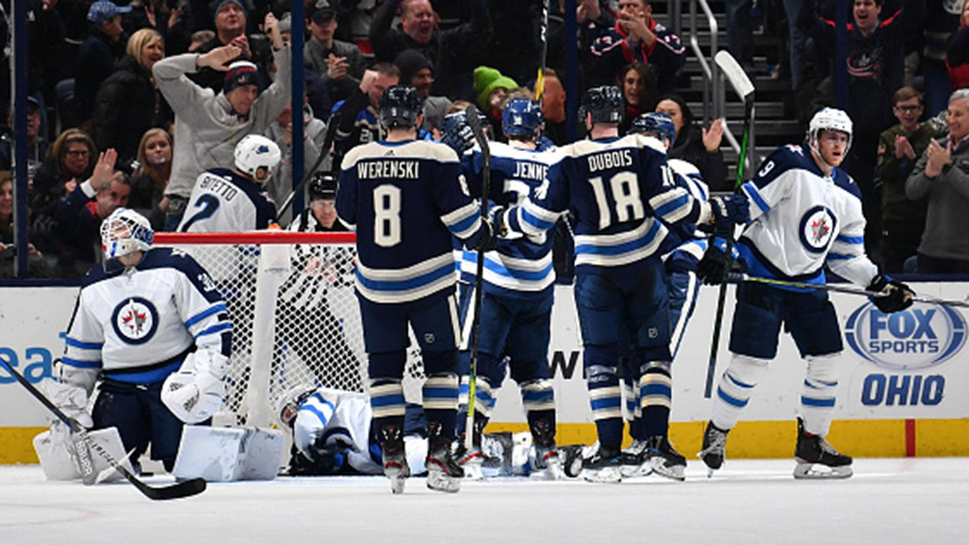 NHL: Jets 3, Blue Jackets 4