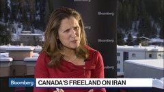 Canada's Freeland on Iran Plane Crash Probe, 'Historic' New Nafta Deal