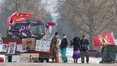 Mohawk First Nation members vow to not back down as pipeline protests continue