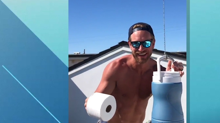Must See: Jeff Carter receives toilet paper delivery...via drone