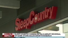 Sleep Country Canada sees sales sink in March, suspends dividend