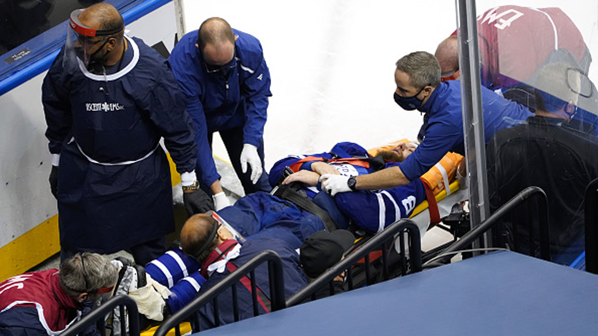 Johnson: Muzzin injury 'a tough ending to a really good day for the Maple Leafs'