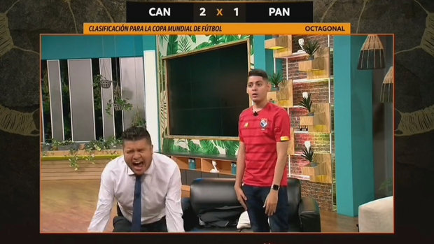 Must See: Panama broadcast crew loses its cool after Davies' brilliant goal