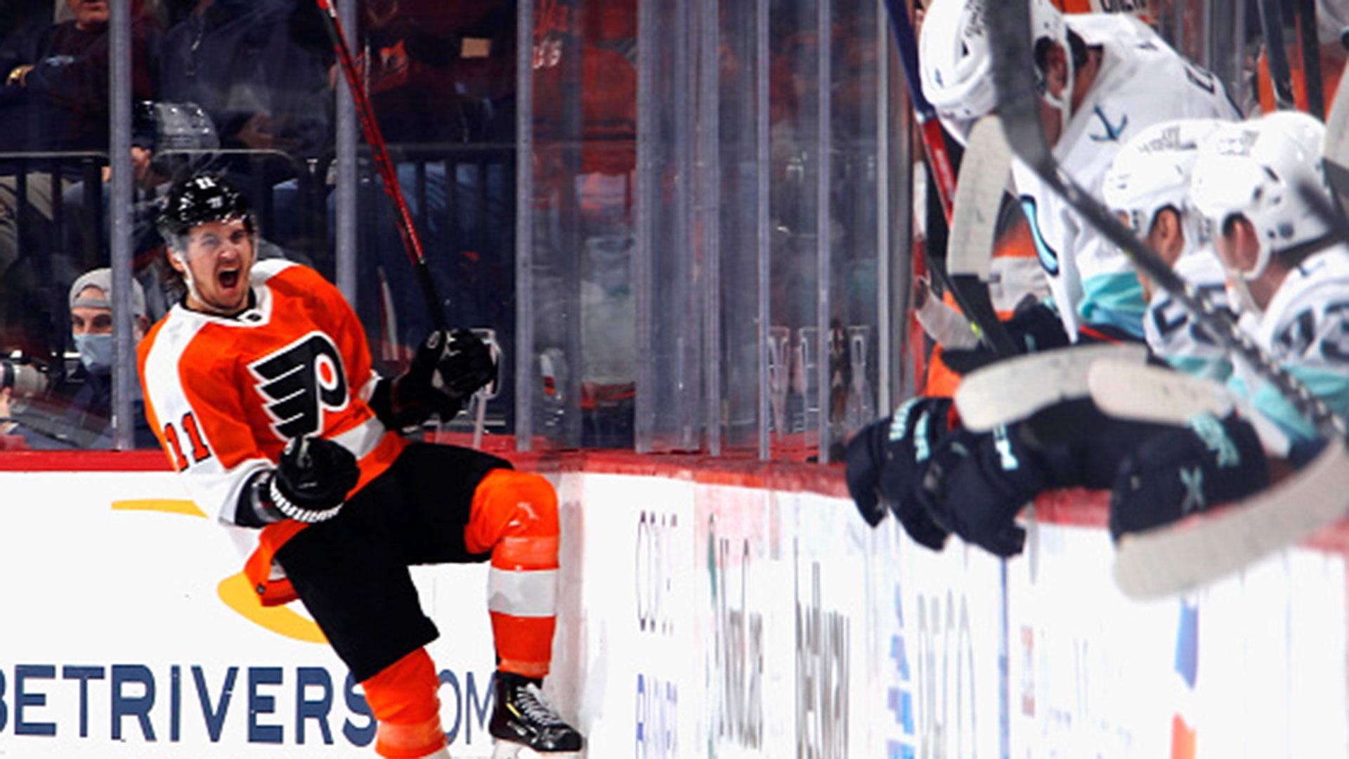 NHL: Kraken 1, Flyers 6