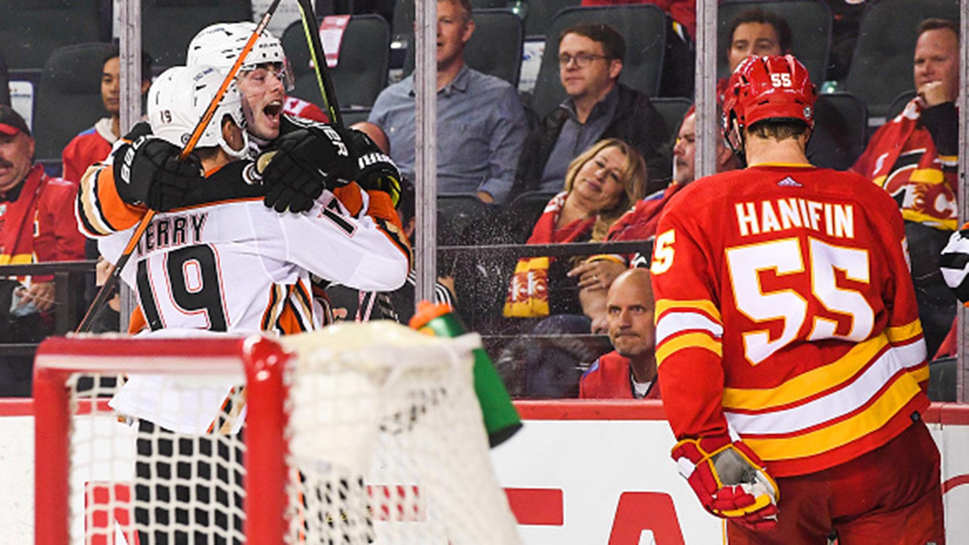 Flames let one slip away against Ducks