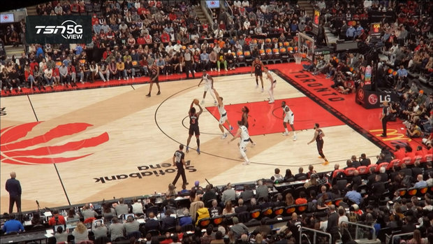 TSN 5G View: Anunoby fakes out Doncic and drills three-pointer