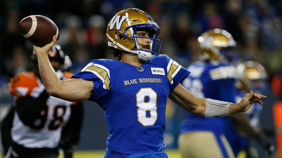 Blue Bombers dominate Lions to claim West title