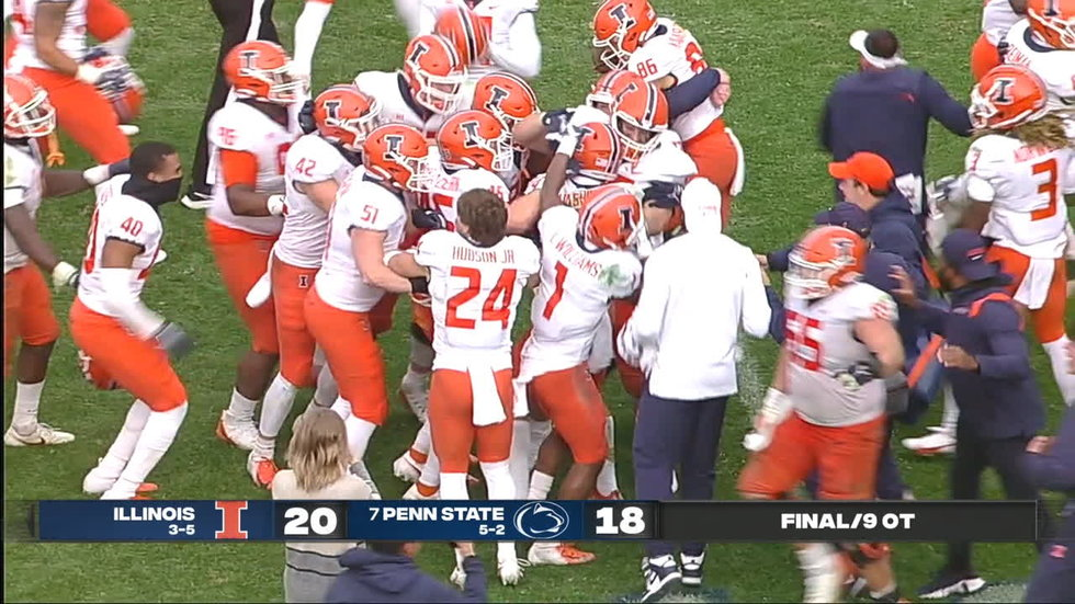 Must See: Illinois stuns Penn State in 9th OT