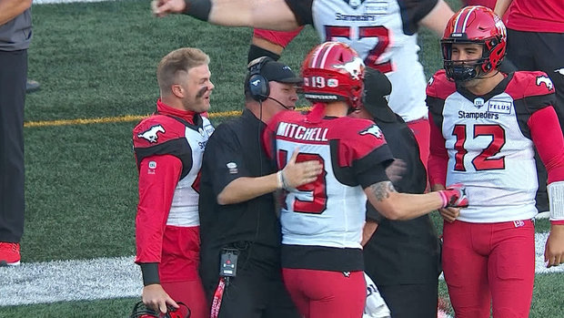 Mitchell sets tone early, Carey dominant as Stamps take season series from Riders