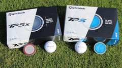 Talking Taylormade's new TP5 and TP5X golf balls