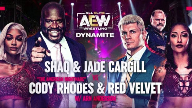 AEW Dynamite Match of the Night: Cody Rhodes and Red Velvet vs. Jade Cargill and Shaq