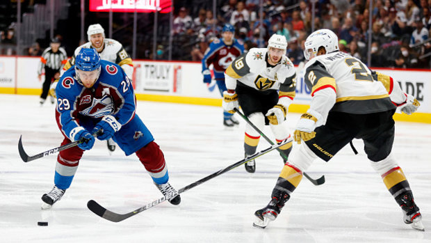Why has MacKinnon cooled off against Golden Knights?