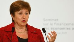 IMF's Georgieva Says Poorer Nations Hit by Climate, Pandemic