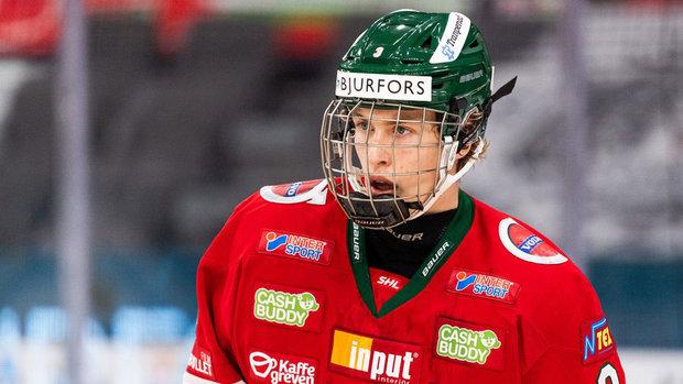 Top prospect Edvinsson learns from watching Hedman, Heiskanen