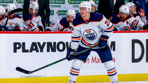 How can Oilers fill the void left behind by Larsson?