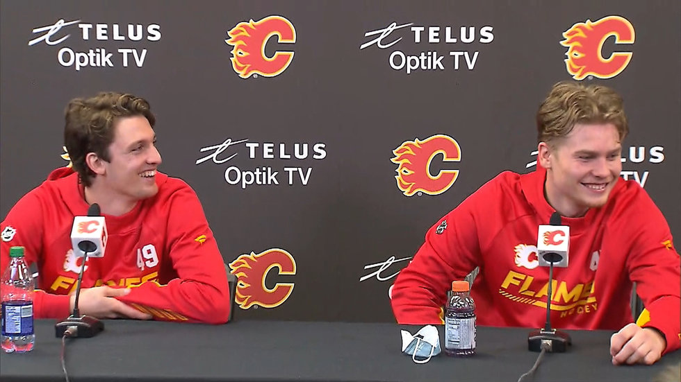 Zary, Pelletier have sights set on making Flames roster this season