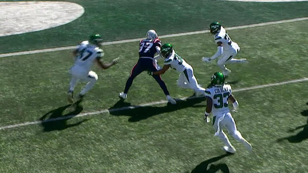 Must See: Patriots RB Harris rolls through seven Jets defenders on spectacular TD run
