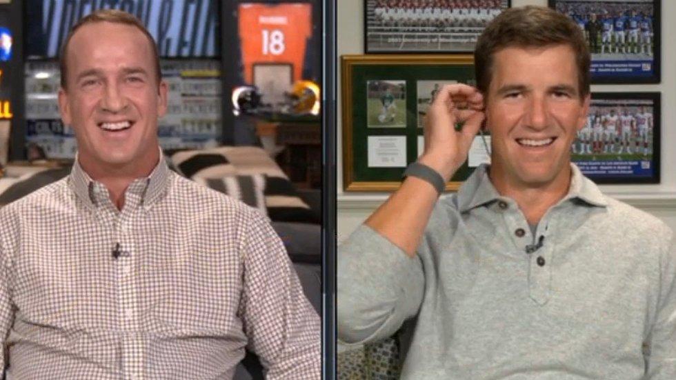Peyton, Eli joke about Patriots bugging locker rooms