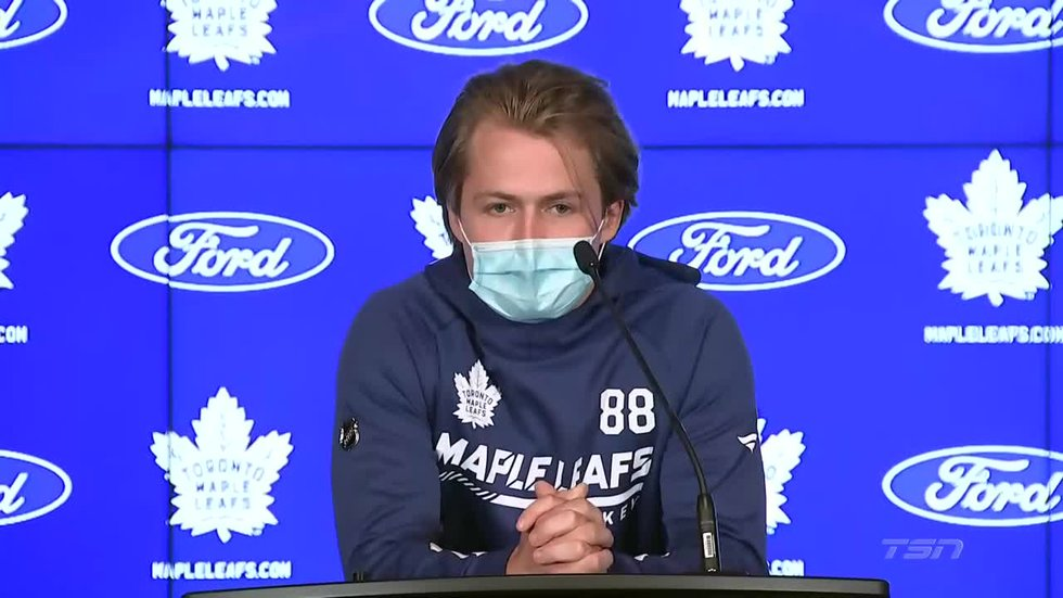Nylander plans to be fully vaccinated by start of season