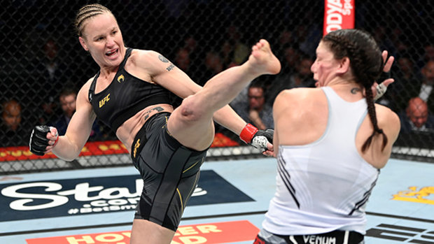 Shevchenko claims sixth consecutive title defence; Lawler beats down Diaz