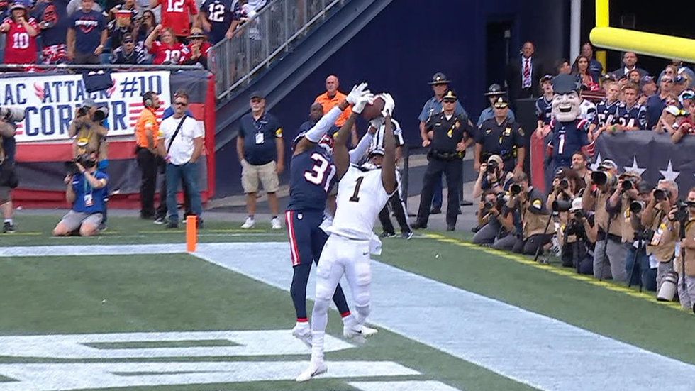 Must See: Callaway makes dazzling catch for first career touchdown