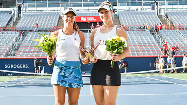 Friend becomes foe: Dabrowski beats Stefani in mixed opener